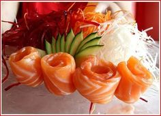 """See 118 photos from 2705 visitors about sushi, BYOB, and fast delivery. """"Some of the best Thai dishes in Chicago reside on the near West Side at. Tuna Sashimi Recipe, Sashimi Sushi, Salmon Sashimi, Gourmet Recipes, Asian Recipes, Asian Foods, Sushi Co, Tuna Dishes, Side Dishes"""