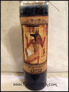 Witchcraft Anubis Fixed Candle Hoodoo Voodoo by RitualWitchShop