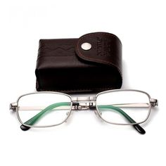 d82fe0c8b9c8 Compact Folding Reading Glasses Foldable Readers Silver Clear Glass