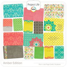 Project Life - Amber - First/Last page; digital