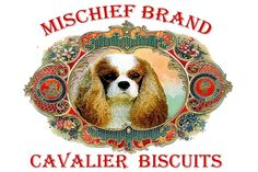 King Charles Cavalier Spaniel Mischief Brand Collectible Biscuit Tin with Biscuits * Wow! I love this. Check it out now! : Dog treats