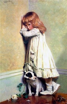 The Athenaeum - In Disgrace (Charles Burton Barber - )