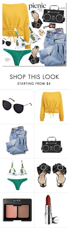 """Picnic in the Park"" by oshint ❤ liked on Polyvore featuring Gucci, Charlotte Russe, By Terry and Givenchy"