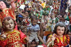 Manila, Philippines: A boy cries during the feast of the Santo Nino celebrations Photograph: Rouelle Umali/Xinhua Press/Corbis