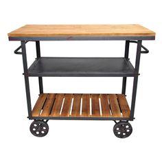 Pangea Home Don Bar Cart – Amber/Slate | from hayneedle.com