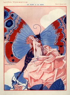 1920s France La Vie Parisienne Drawing  - Very pretty! Love the 1920s style.