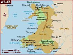 Wales is a country that is part of the United Kingdom and the island of Great Britain, bordered by England to its east and the Atlantic Ocean and Irish Sea to its west. Wales Map, England Map, Brecon Beacons, Irish Sea, Snowdonia, Down South, Swansea, Travel Information, British Isles