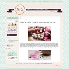 Blog Design - Smitten Blog Designs... I love how the sidebar is a different color than the blog posts!!