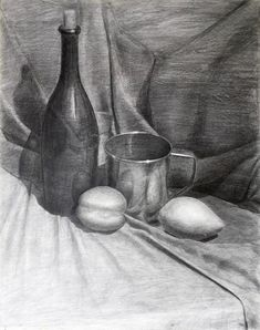 Value Drawing, Shading Drawing, Drawing Poses, Drawing Sketches, Still Life Sketch, Still Life Drawing, Still Life Art, Academic Drawing, Academic Art