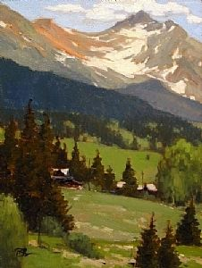 Mountain Retreat, Trout Lake by Brian Blood - Oil