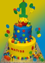 Custom Birthday Cake. Custom Circus themed birthday cake.   Palermo's Bakery creates custom cakes, wedding cakes, birthday cakes, graduation cakes, cake pops, cupcakes, cookies, custom dessert tables and serves the New Jersey/New York Area