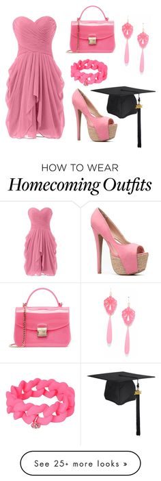 """""""Pinky Graduation"""" by jasmineafra25 on Polyvore featuring Furla, Marc by Marc Jacobs and graduationdaydress"""