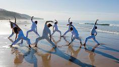 yoga on varkala beach