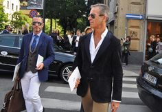 arrival.  never underestimate how good you look wearing a blazer.