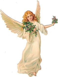 Oblaten Glanzbild scrap die cut chromo Engel angel ange cherub mistle