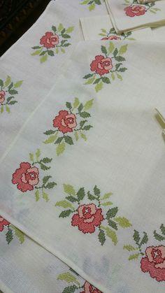 Cross Stitch Cards, Cross Stitch Borders, Cross Stitch Rose, Stitch 2, Cross Stitch Flowers, Cross Stitch Designs, Cross Stitching, Cross Stitch Embroidery, Hand Embroidery