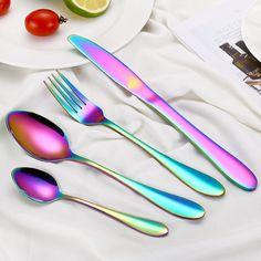 5Pc conjunto de herramientas de cocina Acero Inoxidable Plata Crema Rojo Negro Esmalte Nuevo