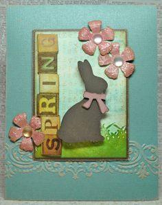 Spring card by Richele Christensen on the Sizzix blog: http://sizzixblog.blogspot.com/2012/03/spring-bunny-card.html