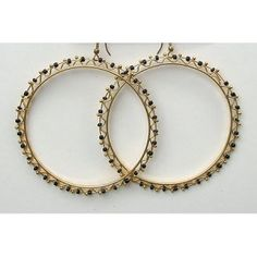 Costelloe + Costelloe Mandy - Black [earrings-mandy-black] - diameter silver hoops decorated with tiny glass beads. Black Earrings, Silver Hoops, Black 7, Glass Beads, Frame, Picture Frame, Frames, A Frame, Picture Frames