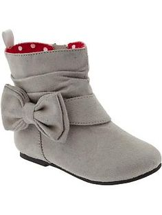 Sueded Bow-Tie Boots for Baby | Old Navy - $25 - I love these!
