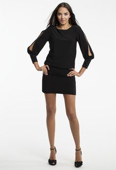 Short Jersey Blouson Dress by Camille La Vie & Group USA