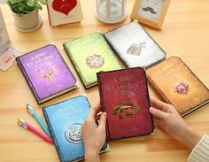 Game Of Thrones Notebooks Hardcover Vintage Paper All Houses A Song of Ice and Fire