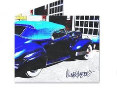 Dynomighty Artist Collective: 1940 Packard Darin by Michael Ledwitz Beautiful Blue sky in your 1940 Packard Convertible by Darin Coachwork