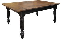 Fluted Leg Farm Table | French Country Dining Table | Kate Madison Furniture