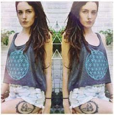 Flower of Life ·· Crop Top ··  Sacred Geometry Clothing by ESOTERIClothing on Etsy https://www.etsy.com/listing/120833274/flower-of-life-crop-top-sacred-geometry