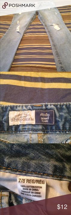 Jeans Size 7 areopostle jeans destress look good condition. Smoker areopostle Jeans Flare & Wide Leg