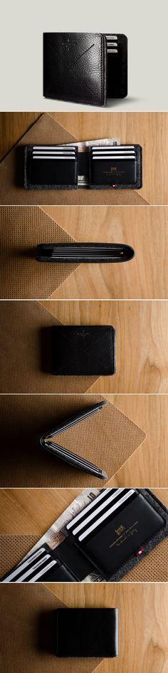 #HardGraft Bi-Fold Wallet / Coal