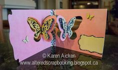 Karen Aicken using the Pop it Ups Butterfly Pivot Card die set by Karen Burniston for Elizabeth Craft Designs - Altered Scrapbooking: Beautiful Butterfly Pivot Card