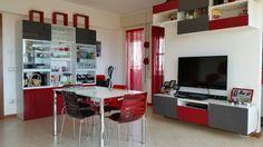 #arredamento #interni #contemporany #modernstyle #modern #myhome #red #salotto #grey #white #living