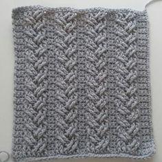 Crochet Cables, Single Plaited Cables Part 1; Rows 1- 4
