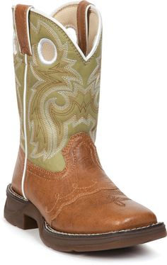 Durango Kids' Li'l Flirt Lacey Western Boots for alanna- they have pink and brown? Kids Western Boots, Cowgirl Boots, Cowboy Boot, Durango Kid, Cowboy Chic, Tan Girls, Square Toe Boots, Pull On Boots, Boot Shop