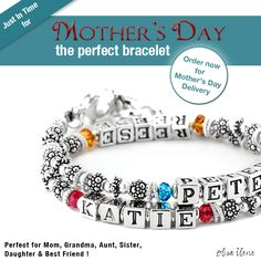 Mother's Bracelet personalized with your families names
