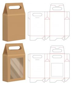 Diy Gift Box, Diy Box, Bag Packaging, Paper Packaging, Packaging Ideas, Paper Box Template, Box Template Printable, Paper Bag Design, Box Patterns