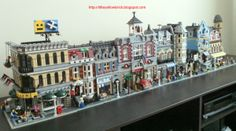 Line of Lego Modular Town sets