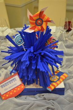Carnival party. Sweet table carnival theme.Primo compleanni tema...