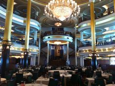 Liberty of the Seas dining room. Cruising with Royal Caribbean