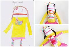 Design your own Zé Zezling! rag doll | Custom Soft Doll | Personalized Softie | Custom cloth doll | Draw your softie, plan his story id card You Draw, Draw Your, Brand Collection, Soft Dolls, Fabric Dolls, Softies, Design Your Own, Gifts For Kids, Fabric Design