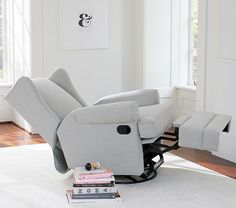 Klaussner Lacey Glider Slate Swivel Glider Chair