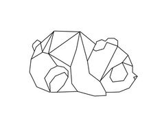 panda geometric geometrique: