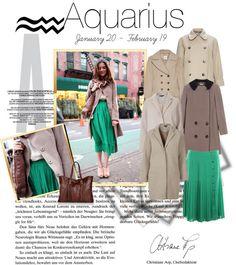 Designer Clothes, Shoes & Bags for Women Aquarius Rising, Darwin, Planets, Zodiac, Signs, Shoe Bag, Winter, Polyvore, Hair