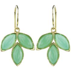 Irene Neuwirth Triple Marquis Chrysoprase Earrings - Yellow Gold ($1,580) ❤ liked on Polyvore featuring jewelry, earrings, green, irene neuwirth earrings, yellow gold jewelry, 18k earrings, 18k gold earrings and 18k yellow gold earrings