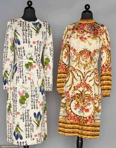 Two Goldworm Knit Dresses, Italy, 1970s, Augusta Auctions, November 11, 2015 NYC