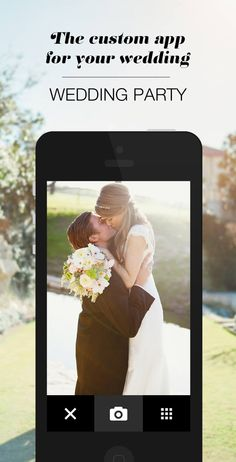 Wedding Party app: a simple, fun and FREE way to share your #wedding journey with your loved ones! Set up your own custom app to collect gorgeous photos, introduce guests to each other, and keep everyone in the loop with your wedding details.