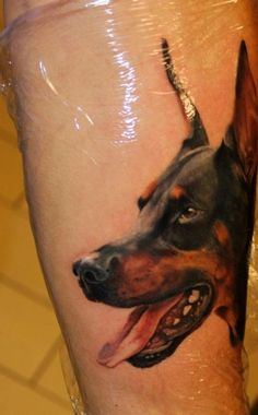 Dog Tattoo / Dobberman Tattoo - Best Tattoos Ever - Tattoo by Giuliano Cascella - 10