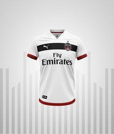 Milan Rebranded - New Logo & Jerseys on Behance Football Kits, Football Jerseys, Sports Jersey Design, Jersey Designs, Jersey Shirt, T Shirt, Nike Shirt, Club Shirts, Clothing Photography