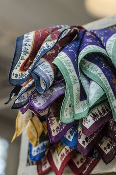 Drake's London Dragon Print Wool and Silk Pocket Squares
